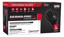 Sas Safety 66544 Derma Pro Powder Free Nitrile Gloves X Large 100 Qty