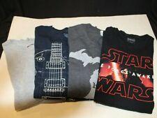 4 pc Men's Shirts - Size Large Mixed Lot - Star Wars / Guitar / Michigan / Gray
