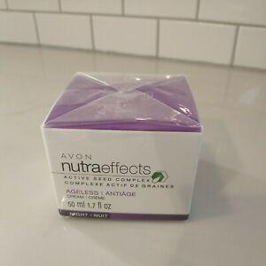 Avon NutraEffects Active Seed complex Ageless cream night 1.7 oz NIB - Retired!