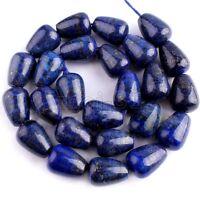 10x14mm Natural Blue Lapis Lazuli Teardrop Gemstone Loose Beads 15'' Strand