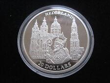 "MDS LIBERIA 20 DOLLARS 2001 PP / PROOF ""NEDERLAND"", SILBER #30"