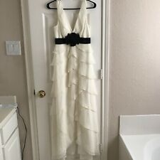 BCBG Off White Long Gown size 0 New NWOT