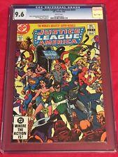 JUSTICE LEAGUE AMERICA 212 CGC 9.6 Batman Wonder Woman Superman George Perez 83