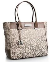 Calvin Klein jacquard Large Shopper Tote Shoulder Bag Handbag Brand New