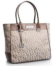 Calvin Klein jacquard Large Shopper Tote Shoulder Bag Handbag Brand New