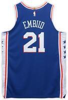 Joel Embiid 76ers Player-Issued #21 Blue Jersey - 2018-19 Season - Size 52+4
