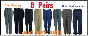 8 Pairs Uniform Work Pants Cintas, Aramark, Dickies USED –8Pairs FREE Shipping