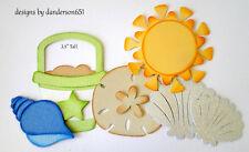 SuMmEr BeAcH KiDs PreMade Paper Piecing Die Cut Scrapbook Border danderson651