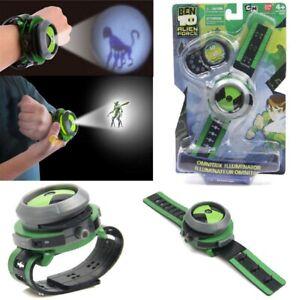 BEN 10 Ten Projector Watch Alien Force Omnitrix Illumintator Bracelet Kid's Toys