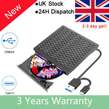 More details for external usb 3.0 dvd rw cd writer slim drive reader player for for all laptop pc