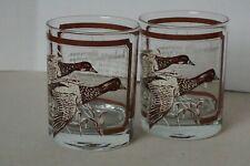 Vintage Georges Briard Signed Rocks Old Fashioned Drink Glasses Set Ducks