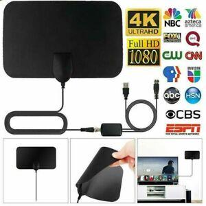 Antenna TV Interna Amplificata Potente 1080P Digitale HDTV per DTT DVB-T/DVB-T2