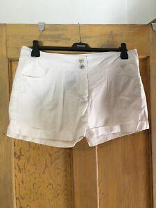 Denim Co womens white cotton shorts size 12