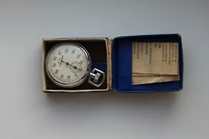 RARE Soviet Stopwatch Zlatoust Mechanical Pocket Made in USSR Vintage + box