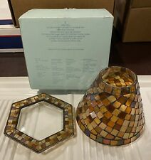 Retired Partylite Global Fusion Decorative Shade and Tray Jar Candle Holder