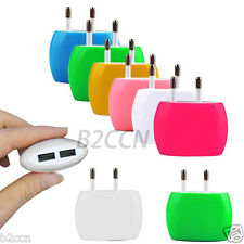 2A Dual USB Ports Travel AC Power Wall Charger Adapter for iPhone 6S EU Plug