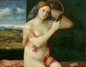 Giovanni Bellini Young Woman at Her Toilette Poster Giclee Canvas Print