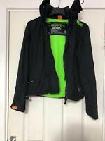 Superdry Black Jacket Size Medium Women Long Sleeve Great Condition (H152)