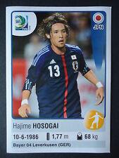 Panini 74 Hajime Hosogai Japan Confed Cup 2013 Brasilien