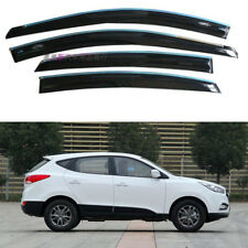 For Hyundai IX35 13-17 Tinted Chrome Trim Window Visor Vent Shade Sun Guard