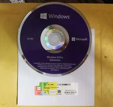 Microsoft Windows 10 pro COA Key  plus DVD 64 Bit Deutsche Vollversion