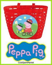 """Basket """"Peppa Pig"""" for bike girl / little girl - Attack al handlebars UNIVERSAL"""
