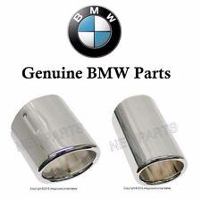 BMW E46 325i 325xi 330Ci 2001-2006 Set of 2 Chrome Exhaust Tips Genuine