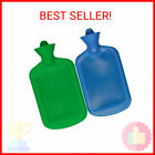 SteadMax Hot Water Bottle, Natural Rubber -BPA Free- Durable Hot Water Bag f …