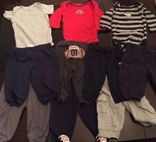 LOT OF 10 BABY BOY CARTER'S ONESIES & PANTS - 3 MONTHS