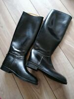 Aigle Coupe Saumur Jumping Rubber Horse Riding Boots Black UK6.5 EU40 Petit Leg