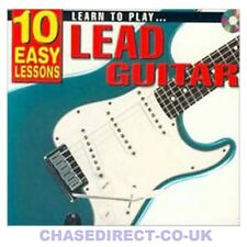 10 Easy Lessons Learn To Play Lead Guitar Beginners CD Booklet Scale Poster