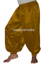 Black - TMS Satin Harem Yoga Pant Belly Dance Boho Hippy Pantalons - 30 Color