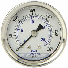 Liquid Filled Pressure Gauge 0 300 Psi 15 Face 18 Npt Back Mount