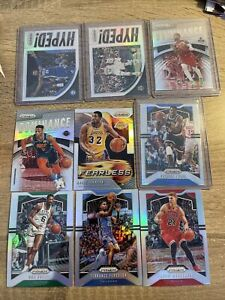 2019/20 Panini Prizm Lot X43 Cards, Silver Holo, Red, Green, Pink