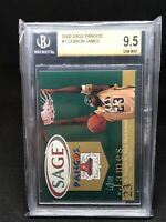 2002 Sage Pangos Limited TRUE GEM! LEBRON JAMES #1 Rookie RC BGS 9.5 (QUAD 9.5s)