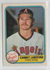 Carney Lansford 1981 Fleer signed auto autographed card Angels