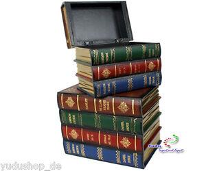 Libro Ficticio Cajas de Madera Caja de Almacenamiento Colección Joyero Madera