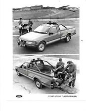 """2 Ford P100 californianos/Turbo Diesel (basado en Sierra) FOLLETO relacionados con"""" """"foto de prensa"""