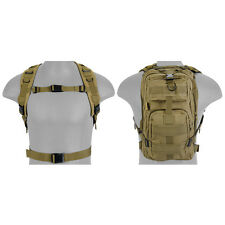 Airsoft Tactical Backpack MOLLE Webbing 2.5 L Bladder Fit QD Straps Tan AC-165T