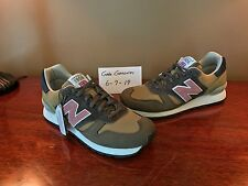 "New Balance Made in the UK 670 ""Surplus Pack"" - Size 9 Olive/Pink Mens Sneakers"