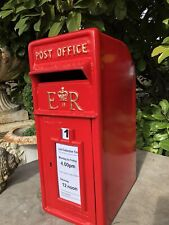 ER Royal Mail Cast Iron Post Office Box - ER Red British Post box reproduction