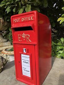 Er Royal Mail Gusseisen Post office Kiste - Rot Britisch Briefkasten