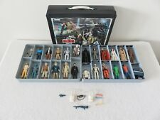 Vintage Star Wars Lot of Figures Weapons & Accessories First 12 w/ Vinyl Case