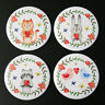 Love Animals Fridge Magnet Set 55mm 4pc Cute Illustration Gift Cat Rabbit Bird