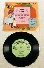 Vintage 1965 Walt Disney Disneyland CINDERELLA Record and Book LLP 308