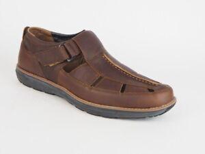 Mens Timberland Barrett Fisherman Medium A16ST Brown Leather Outdoor Sandals