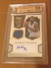 ANDREW WIGGINS 2014-15 SELECT RC ROOKIE JERSEY AUTOGRAPH BGS 9.5 10 AUTO /199