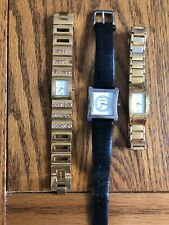Bundle Of 3 DKNY Bracelet Watches All Working With New Batteries