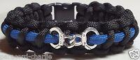 Thin Blue Line Handcuff Police Law Enforcement TBL LEO Paracord Bracelet