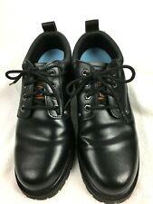 Sketcher Men's Work Shoes Black Size 11 Leather Upper